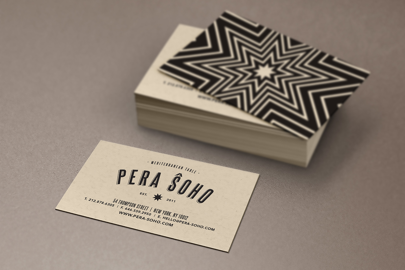 Passion & Poison Studio, P&P Studio, Branding, Creative, Agency, New York City, Restaurant Design, Pera Soho